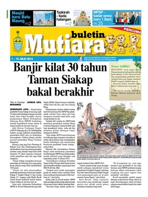 cover image of Buletin Mutiara 1-15 Jul 2014
