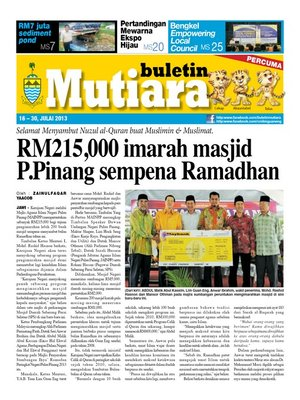 cover image of Buletin Mutiara 16-31 Jul 2013