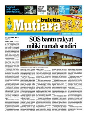 cover image of Buletin Mutiara 1-15 May 2014