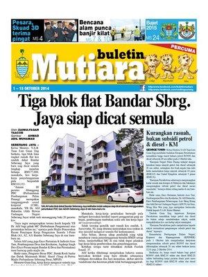 cover image of Buletin Mutiara 1-15 Oct 2014