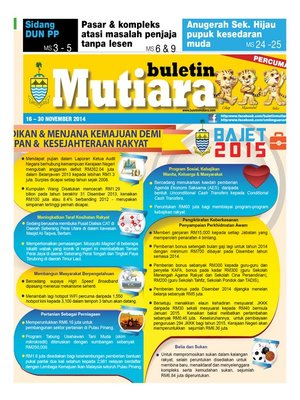 cover image of Buletin Mutiara 16-30 Nov 2014