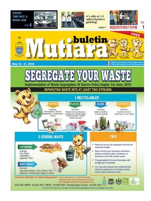 cover image of Buletin Mutiara 16-31 May 2016