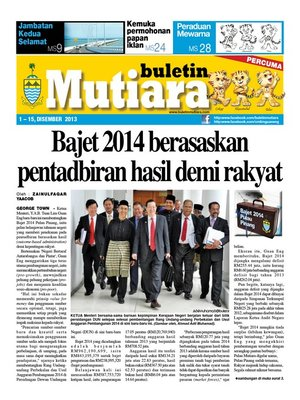cover image of Buletin Mutiara 1-15 Dec 2013