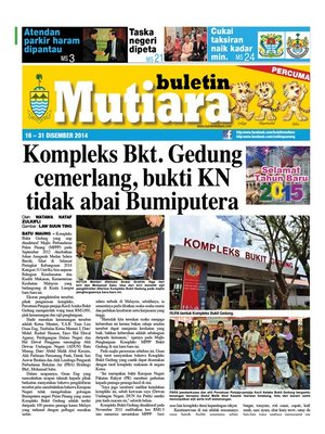 cover image of Buletin Mutiara 16-31 Dec 2014