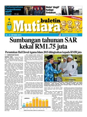 cover image of Buletin Mutiara 16-31 Oct 2015