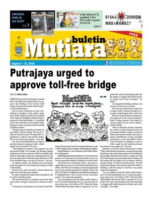cover image of Buletin Mutiara 1-15 Aug 2016