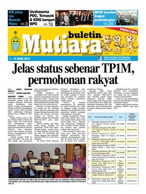 cover image of Buletin Mutiara 1-15 Aug 2015