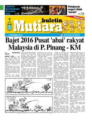 cover image of Buletin Mutiara 1-15 Nov 2015