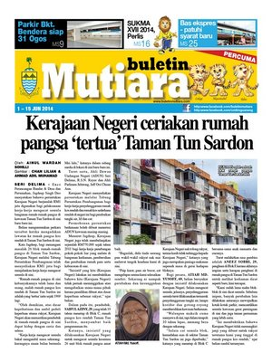 cover image of Buletin Mutiara 1-15 Jun 2014