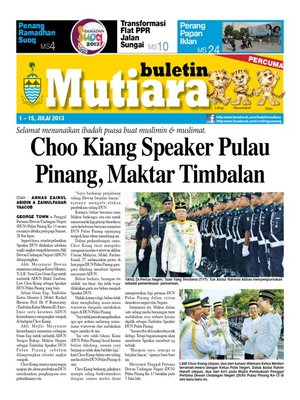 cover image of Buletin Mutiara 1-15 Jul 2013