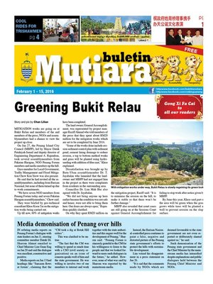 cover image of Buletin Mutiara 1-15 Feb 2016