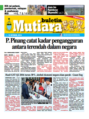 cover image of Buletin Mutiara 1-15 Oct 2016