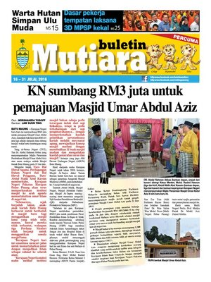 cover image of Buletin Mutiara 16-31 Jul 2016