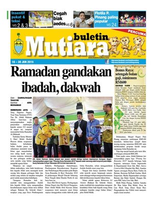 cover image of Buletin Mutiara 16-30 Jun 2015