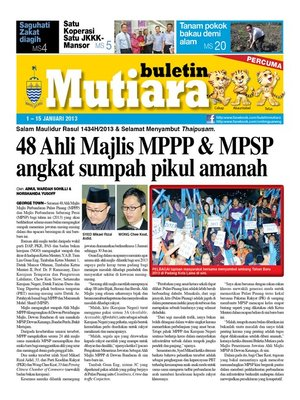 cover image of Buletin Mutiara 1-15 Jan 2014