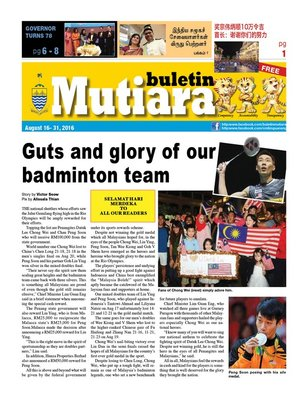 cover image of Buletin Mutiara 16-31 Aug 2016