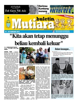 cover image of Buletin Mutiara 16-28 Feb 2015
