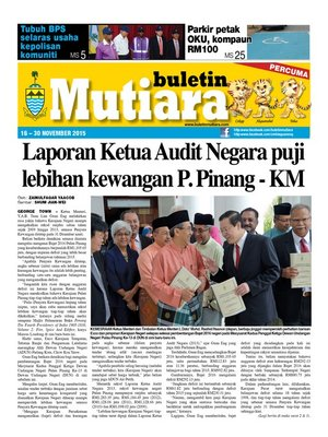 cover image of Buletin Mutiara 16-30 Nov 2015
