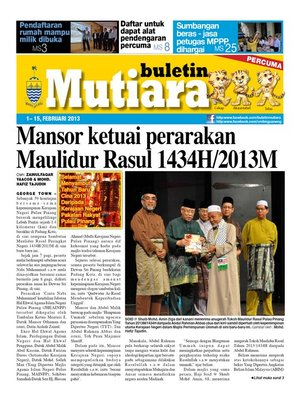 cover image of Buletin Mutiara 1-15 Feb 2013