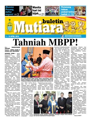 cover image of Buletin Mutiara 1-15 Apr 2015