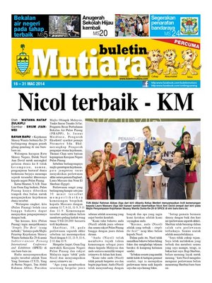 cover image of Buletin Mutiara 16-31 Mac 2014