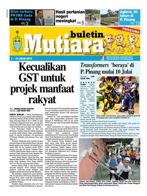 cover image of Buletin Mutiara 1-15 July 2015