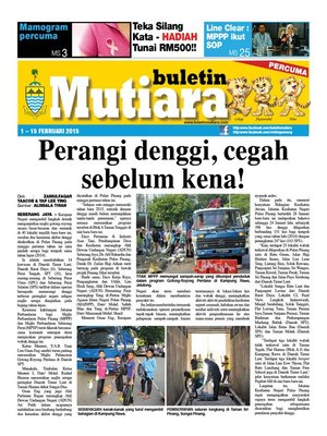 cover image of Buletin Mutiara 1-15 Feb 2015