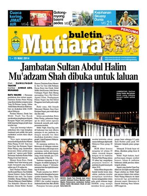 cover image of Buletin Mutiara 1-15 Mac 2014