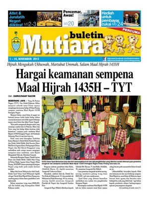 cover image of Buletin Mutiara 1-15 Nov 2013