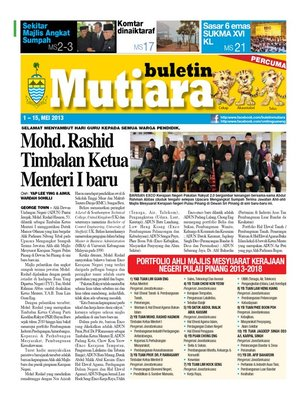cover image of Buletin Mutiara 1-15 May 2013