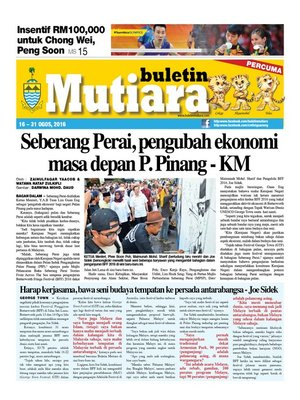 cover image of Buletin Mutiara 16-30 Aug 2016