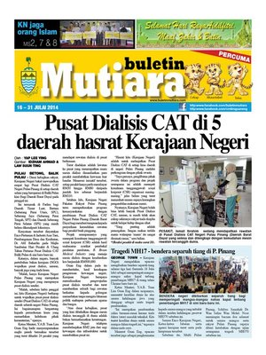 cover image of Buletin Mutiara 16-31 Jul 2014