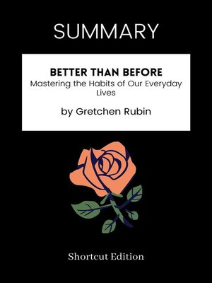 cover image of SUMMARY--Better Than Before