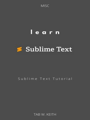 cover image of Learn Sublime Text