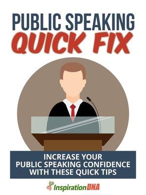 cover image of Public Speaking Quick Fix