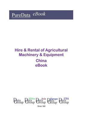 cover image of Hire & Rental of Agricultural Machinery & Equipment in China