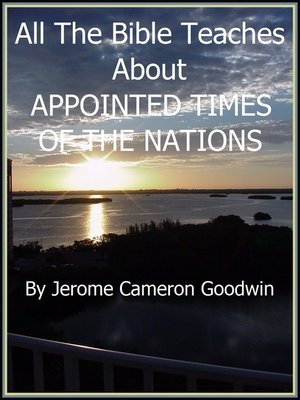 cover image of APPOINTED TIMES OF THE NATIONS