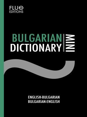 cover image of Bulgarian Mini Dictionary