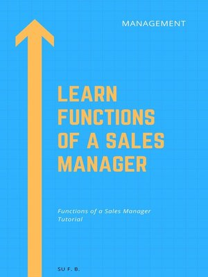 cover image of Learn Functions of a Sales Manager