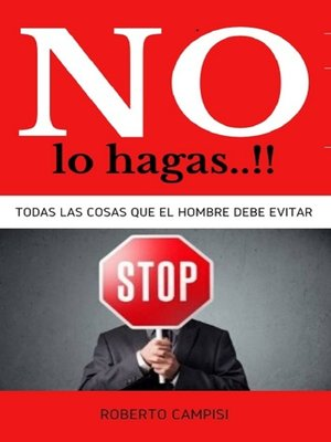 cover image of NO lo Hagas..!!