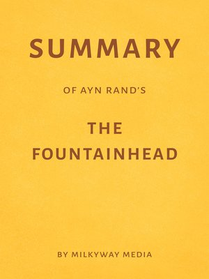 cover image of Summary of Ayn Rand's the Fountainhead