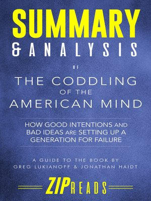 cover image of Summary & Analysis of the Coddling of the American Mind