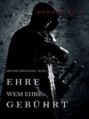 cover image of Ehre wem Ehre gebührt