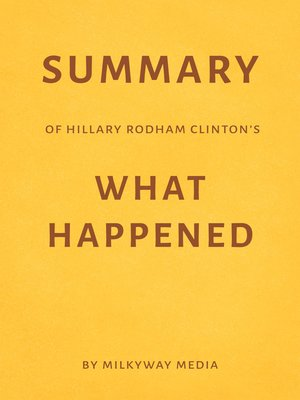 cover image of Summary of Hillary Rodham Clinton's What Happened