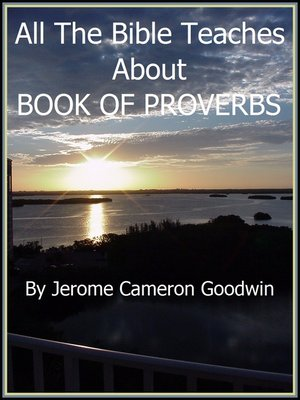 cover image of PROVERBS, BOOK OF
