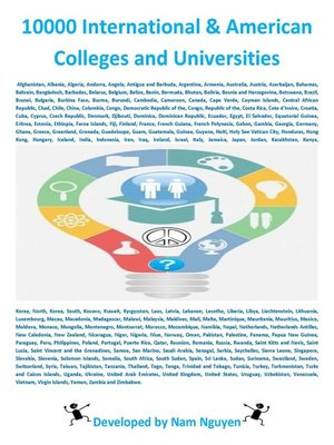 cover image of 10000 International and American Colleges and Universities