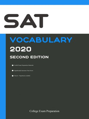 cover image of SAT Test Vocabulary 2020