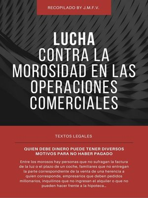 cover image of Lucha contra la morosidad en las operaciones comerciales