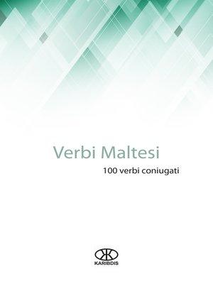 cover image of Verbi maltesi