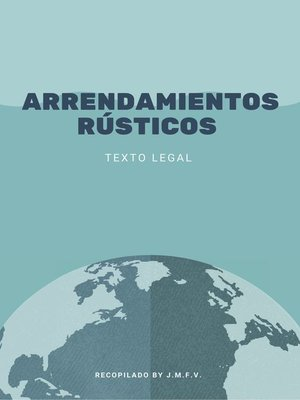 cover image of Arrendamientos Rústicos